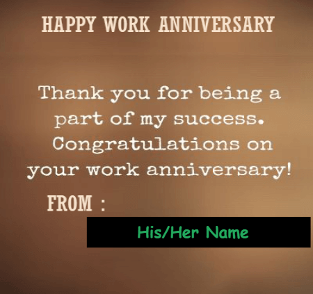 First Work Anniversary