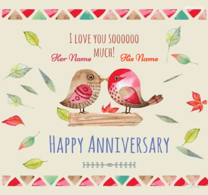 Happy Anniversary Love Birds Couples