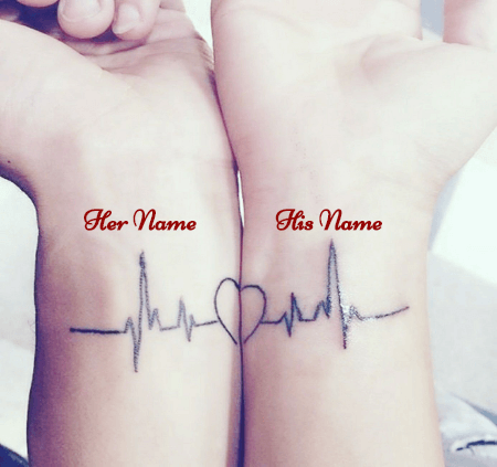 Couple Name on Hands