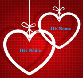 Name With Hearts for couple