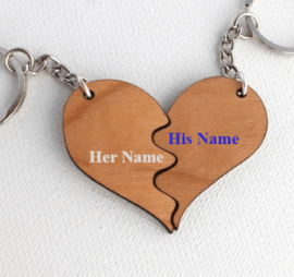 Name on Keychain for couple