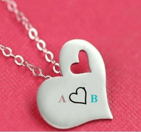 Alphabets on Heart for couples