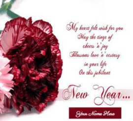 Happy Hew Year Red Roses