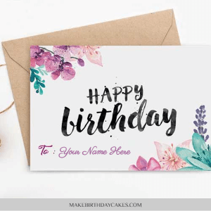 Birthday card with name