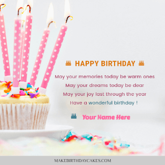 Birthday wishes with name editing