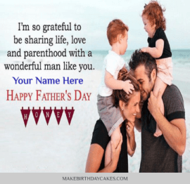 Happy Father day from Wife