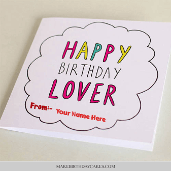 Happy birthday card for lover