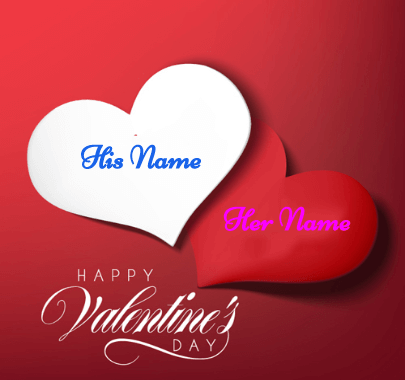 Happy valentine's Card With Names