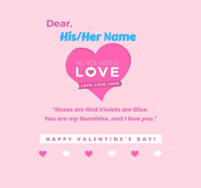 Dear Love Valentine's Day