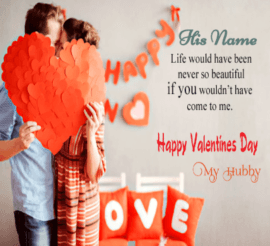 Valentine's Cute Message for Hubby
