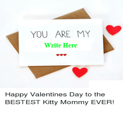 Valentine Day Card With Wishes for mom
