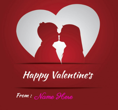Valentine's Message With Card Image