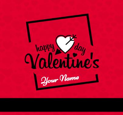 Valentine Day Arrow on heart