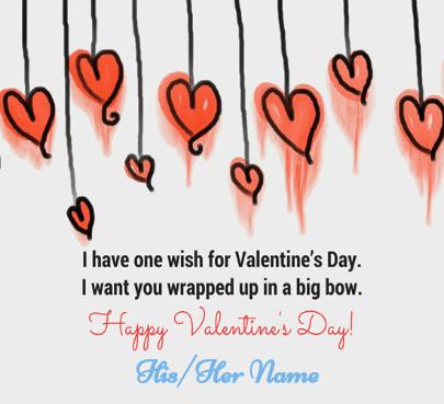 Happy Valentine Heart Wishes