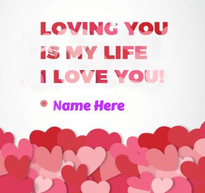 Love is Life Valentine's Message