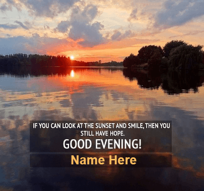 Great Evening Sunset Message