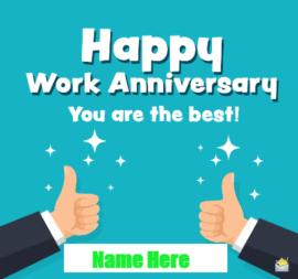 Work Anniversary for Best Employ