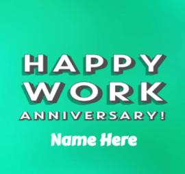 Happy Work Anniversary Message