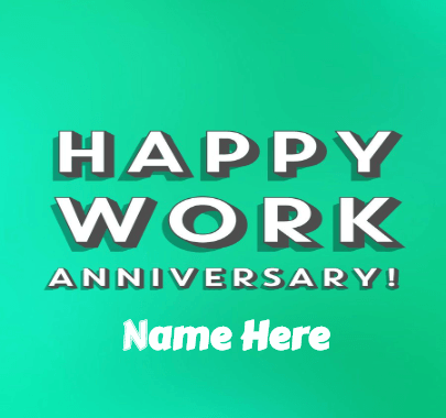 Happy Work Anniversary Message