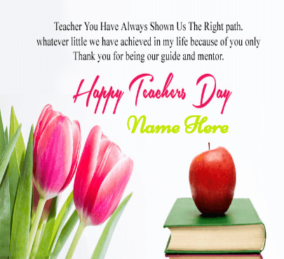 Appreciation Quote on Teacher Day