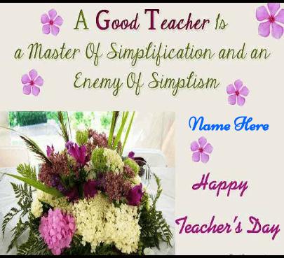 Good Teacher Card