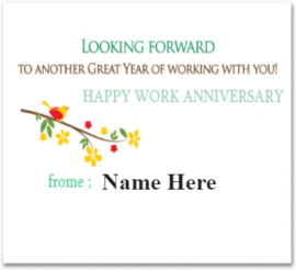 Work Anniversary on this Great Year