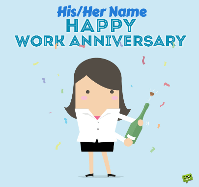 Happy work Anniversary in office