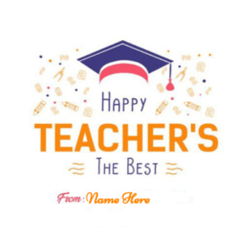 Happy Teacher Day the Best Teacher