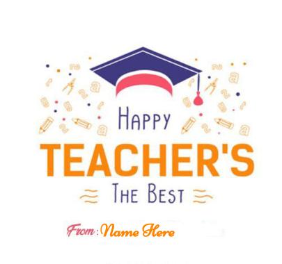 Happy Teacher Day the Best Teacher