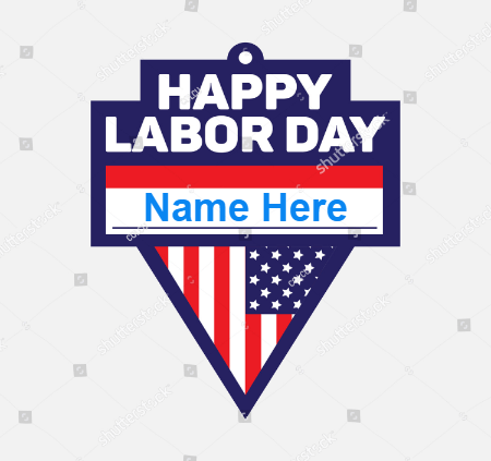 Labor day USA Flag Card
