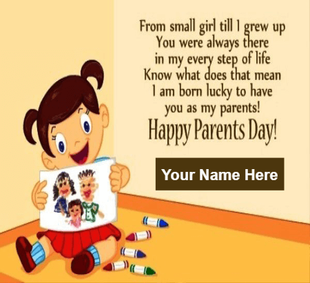 Parents Day Wishes Form Daughter
