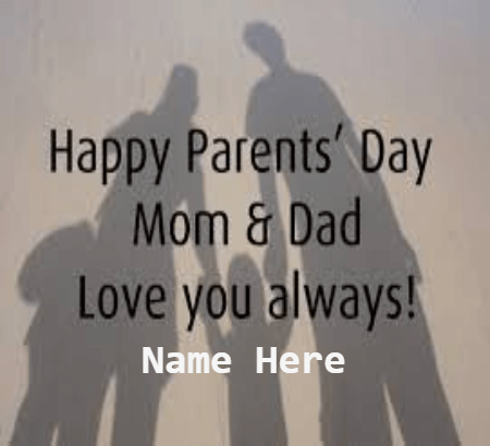 Parents Day MOM and DAD Love You