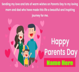 Parents Day to Loving MOM and DAD