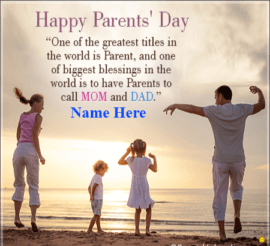 Happy Parents day Mom and Day Quote
