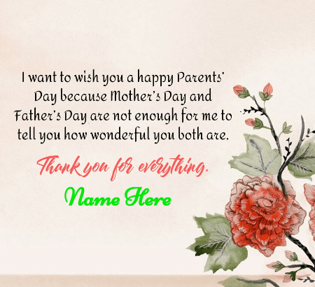 Wishing Happy Parent Day