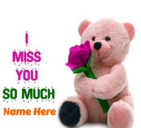 Miss You Message With Gift