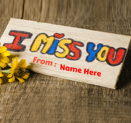 Miss You Message Card