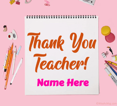 Thank You Message To Your Best Teacher