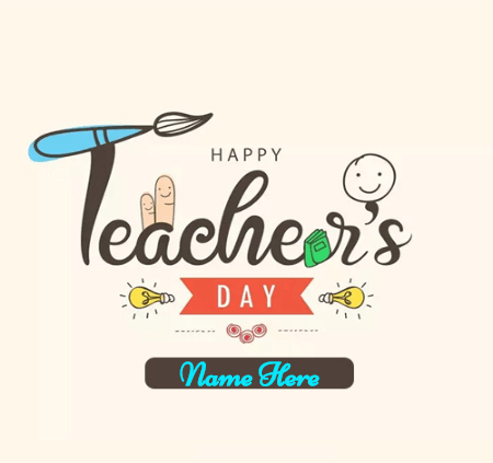 Happy Teacher Wish Card