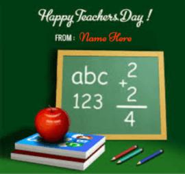 Creative Greeting Cards Teachers Day