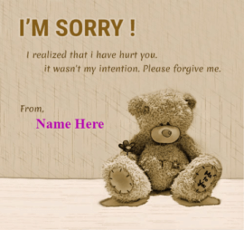 I Am Sorry For Hurting You
