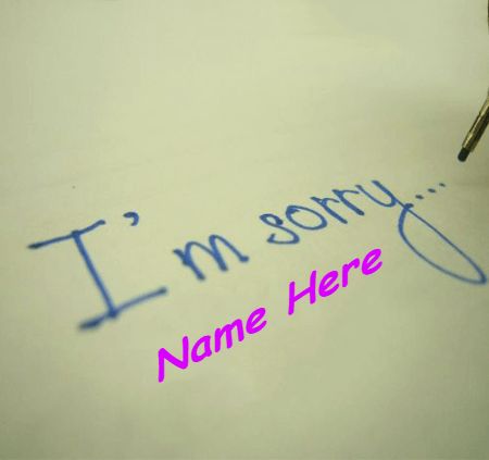 I Am Sorry From Heart
