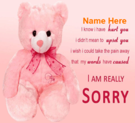 Being Sorry