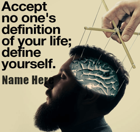 Define Yourself Quote