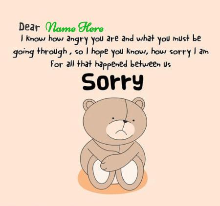 Sorry For What Happen Between Us