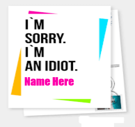 Sorry I Am Idiot