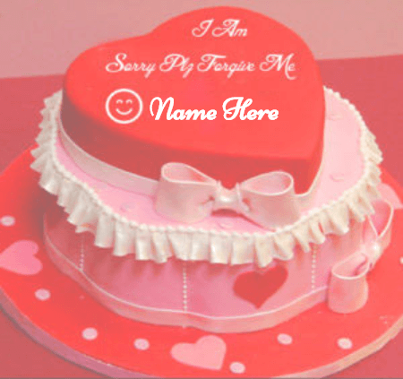 Sorry Message With Cake