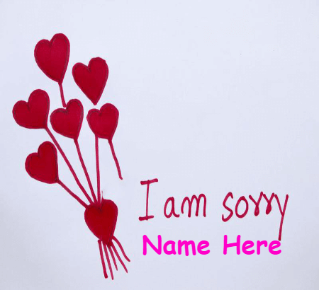 I Am Sorry With Heart Flower