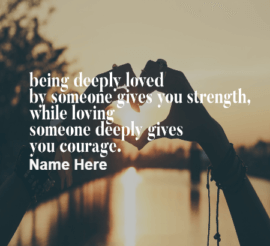 Deeply Love Quote
