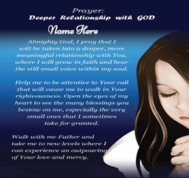Relationship With God Prayers